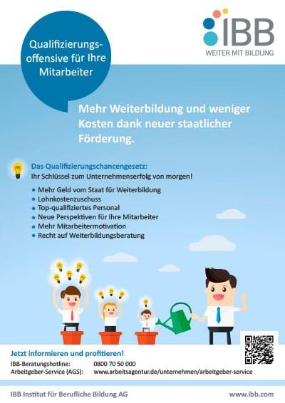 Infoblatt Arbeitgeber - Qualifizierungschancengesetz