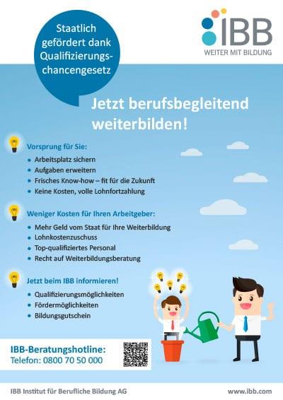 Infoblatt Arbeitnehmer - Qualifizierungschancengesetz